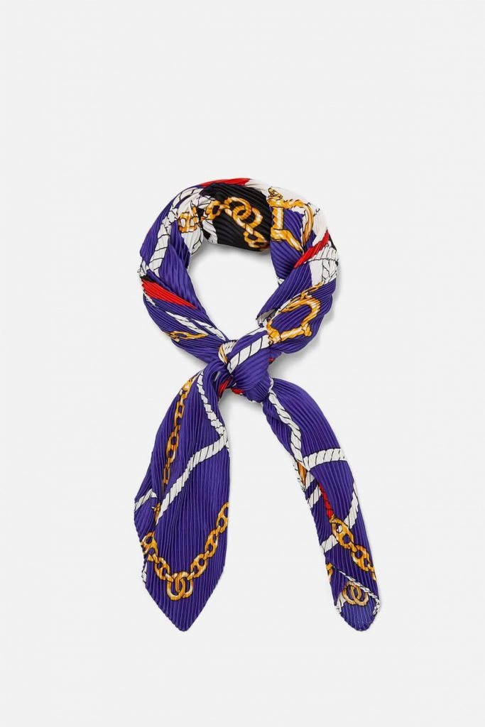 Printed pattern scarf